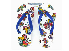"ROMERO BRITTO FLIP FLOP SIZE: 7/8  ""BUTTERFLY""   ** NEW * MADE IN BRAZIL"