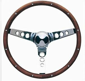 "Studebaker Lark Hawk Grant Wood Steering Wheel 15"" New Walnut Wood"