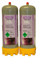 2x Co2 2.2ltr gas bottles for MIG welding disposable cylinders