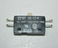 New Itw Subminiature Microswitch Pin Plunger Spdt Solder 101 A 125250 Vac