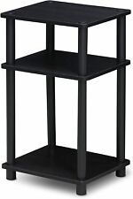 Black 3 Tier End table for Small Spaces - No Tools Needed