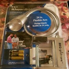 BBQ grillware 2-in-1 All Purpose LED Grill Light 24in Flexible Arm #161717 NEW