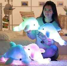 Wewill Brand Creative Colorful LED Light Stuffed Animal Toy Glowing Dolphin Toys