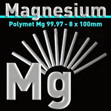 "10 pcs. Magnesium Rods, Mg purity 99.97% - 4"" x 5/16"" Metal Element Bars Ingots"