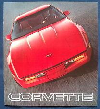 Prospectus brochure 1985 CHEVROLET CHEVY CORVETTE (usa) grande taille