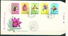 Luxemburg Protected Flora Flowers stamps set FDC 1975 numerated