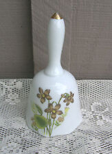 Old Vintage Ceramic Flower / Floral Pattern Bell ~ Mantel Decor