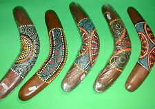 "Boomerang Aboriginal Decor Made in Bali 12"" Long Handmade Medium Australia Style"