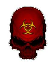 2 Biohazard Skull Decal - Toxic Zombie Skull Sticker laptop ipad kindle decals
