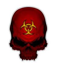 Biohazard Skull Decal - Toxic Zombie Skull Sticker Living Dead Graphic