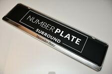 1 x PRESTIGE CHROME STAINLESS STEEL NUMBER PLATE SURROUND HOLDER FOR MERCEDES