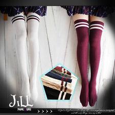 lolita japan JK cosplay highschool gymnastics classroom thigh high socks J1B113