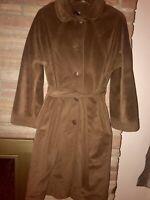 Vintage JULI DE ROMA Women's Brown Kajjmir Man Made Cashmere Long Coat Sz 10