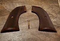 Checkered Wood Eagle Ruger Super Blackhawk RSB Pistol Grips