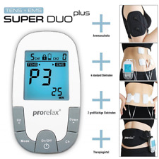TENS EMS Electrical Nerve Muscle Stimulator Relief Massager ProRelax SuperDuo