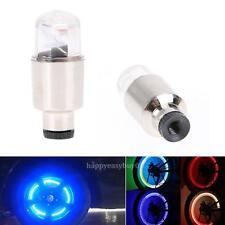 2pcs Flash LED Tyre Tire Wheel Valve Caps Neon Light Lamp for Bike Car Bicycle