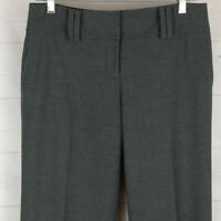 Ann Taylor Lindsay womens size 4 stretch gray flat front mid rise dress pants