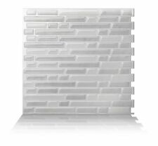 Tic Tac Tiles® - Premium 3D Peel & Stick Wall Tile in Como White (5 sheets)