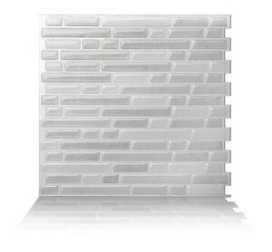 Tic Tac Tiles® - Premium 3D Peel & Stick Wall Tile in Como White (5 sheets)