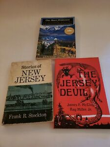Set Of 3 Paperback Books About Adventure & History In New Jersey & Alaska