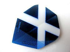 RUTHLESS DART FLIGHT SET SCOTLAND WHITE CROSS BLUE BACKING FLIGHT SET FREE POST