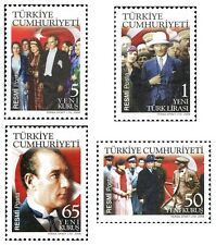 TURKEY 2008, ATATURK THEMED OFFICIAL POSTAL STAMPS -2, FLAG, MNH