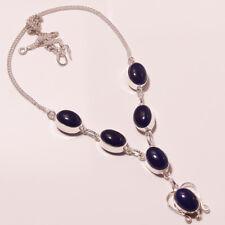 "Awesome Tanzanite Quartz Silver Plated Handmade Necklace 17""18"""