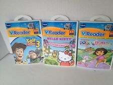 Vtech V.Readers Lot 3, 3-5 Years, Toy Story 3, Hello Kitty's Surprise, Dora NWT