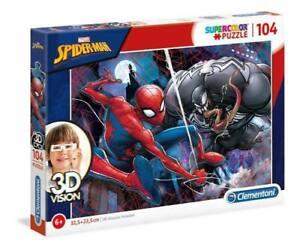 CLEMENTONI Puzzle 104 3D Vision Spider Man 611