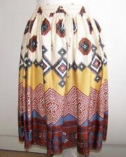Banana Republic Skirt size 2 Flare Elastic Waist Geometric Boho Peasant Multi