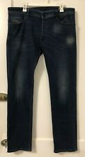 Diesel Safado-R Regular Slim Fit Straight Stretch Jeans Blue Button Fly W36 L32