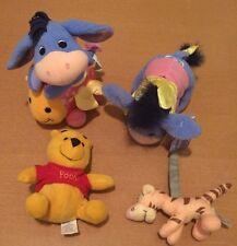 4 Disney Baby Toys: Vibrating Eeyore, Blossom Baby Eeyore, Pooh Rattle, Tigger