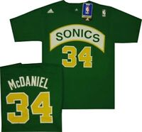 Seattle Sonics Xavier McDaniel 1988 Adidas Net Print Shirt Name and Number $32