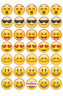 35 Emoji Cupcake Cake Toppers Decorations Edible Wafer Paper *Pre Cut*