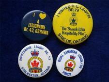ROYAL CANADIAN LEGION DONNYBROOK DORCHESTER FOREST SIMCOE OSHAWA ONT BUTTON LOT