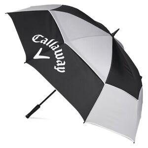 "Callaway Golf Tour Authentic 68"" Umbrella New 2020 - Black/Grey/White"