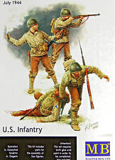Master Box 3521: 1/35 WWII US Infantry July 1944 (4 Figures)