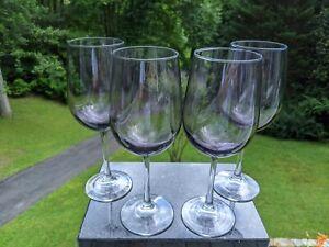 Set Italian Fine Art Glass Crystal Bordeaux Stemware: Choose 4 Purple OR 5 Green
