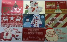 9 Macy`s Department Store Christmas Holidays Empty Gift Card Collectible Lot New