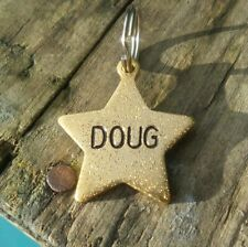 LUXURY Personalized Dog Tag Pet Name Phone GOLD Disc Puppy Collar Accessories