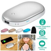 Rechargeable Hand Warmer 5000mAh Double-Side Heating Portable Pocket Power Bank