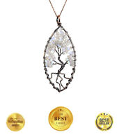 The Tree of Life Chakra Pendant Necklace Fine Gemstone Jewelry Gifts For Women