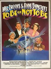 Affiche TO BE OR NOT TO BE Alan Johnson MEL BROOKS Anne Bancroft 40x60cm