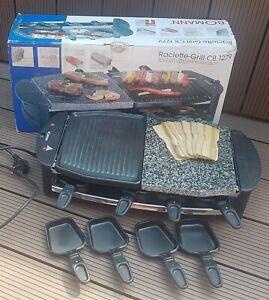 Raclette-Grill CB 1279 BOMANN  8 Pfännchen mit heißer Stein