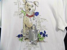 Karen Scott PXL Dog T-shirt Graphic Short Sleeve White Gardening Graphic $32.50