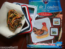 LOT 3 KITS +CADRE  COMPLET  POINTS COMPTES  LA FERME