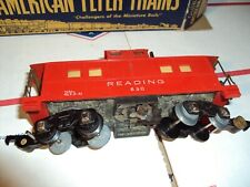 """Vintage 1954 American Flyer Trains 630 Caboose 3/16"""" Scale USA Made New in Box"""
