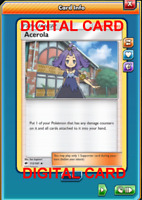 4X Acerola 112/147 Pokemon Online Card TCG PTCGO Digital Card