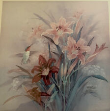 LENA LIU DAY LILY With HUMMINGBIRD, FLORAL SIGNED 620 Of 2500  Limited PRINT