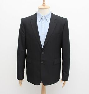 Men's BURBERRY Wool SportCoat Suit Jacket Blazer Black Size US46 UK56R ITALY